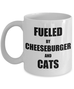 Cat Cheeseburger Mug Funny Gift Idea for Novelty Gag Coffee Tea Cup-Coffee Mug