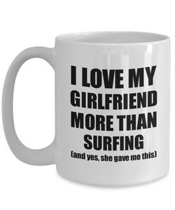 Surfing Boyfriend Mug Funny Valentine Gift Idea For My Bf Lover From Girlfriend Coffee Tea Cup-Coffee Mug