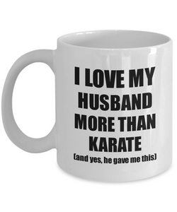 Karate Wife Mug Funny Valentine Gift Idea For My Spouse Lover From Husband Coffee Tea Cup-Coffee Mug