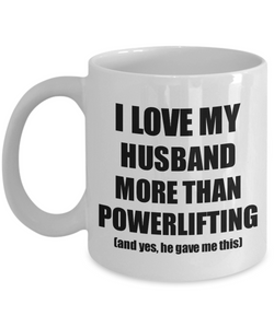 Powerlifting Wife Mug Funny Valentine Gift Idea For My Spouse Lover From Husband Coffee Tea Cup-Coffee Mug
