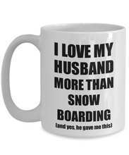 Load image into Gallery viewer, Snow Boarding Wife Mug Funny Valentine Gift Idea For My Spouse Lover From Husband Coffee Tea Cup-Coffee Mug
