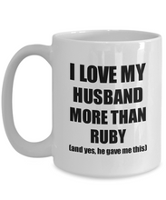 Load image into Gallery viewer, Ruby Wife Mug Funny Valentine Gift Idea For My Spouse Lover From Husband Coffee Tea Cup-Coffee Mug