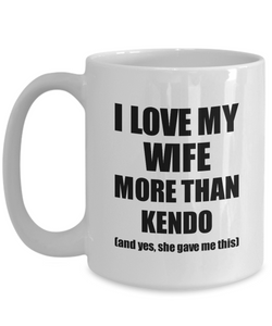 Kendo Husband Mug Funny Valentine Gift Idea For My Hubby Lover From Wife Coffee Tea Cup-Coffee Mug