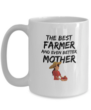 Load image into Gallery viewer, Farmer Mom Gift Best Mother Funny Mug for Mama Novelty Gag Coffee Tea Cup-Coffee Mug