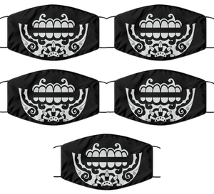 Day Of The Death Face Mask For Men Women Cool Caladera Skull Mouth Nose Cover Washable Reusable-Mask