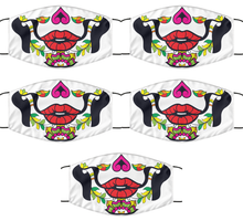 Load image into Gallery viewer, Calavera Face Mask For Her Day Of The Death Women Pink Mouth Nose Cover Washable Reusable-Mask