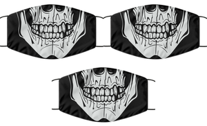 Skull Head Face Mask Cool For Men Women Death Mouth Nose Cover Washable Reusable-Mask