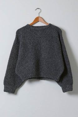 Atelier Delphine Balloon Sleeve Sweater in Charcoal
