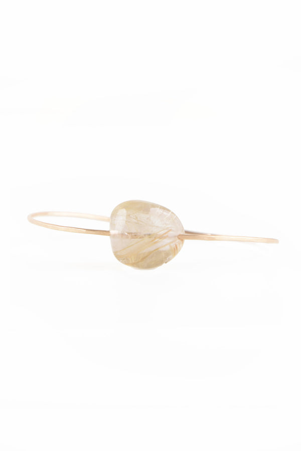 Small Stone Cuff in Rutilated Quartz