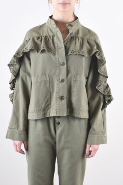 Eyelet Jacket in Army