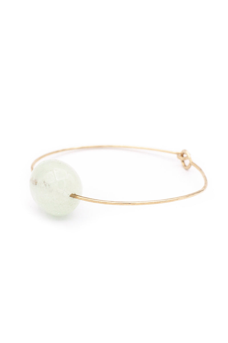 Mary MacGill Small Stone Cuff in Aquamarine