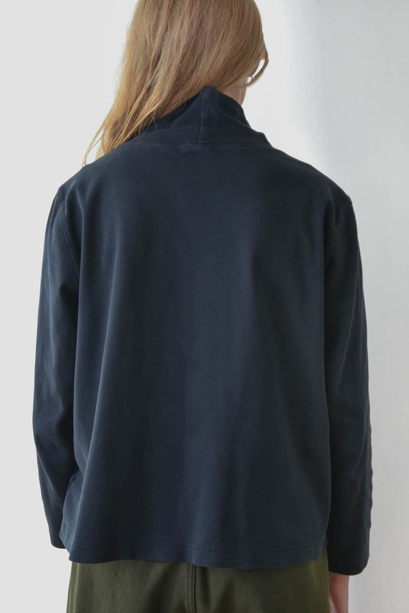 Vintage Washed Black Turtleneck