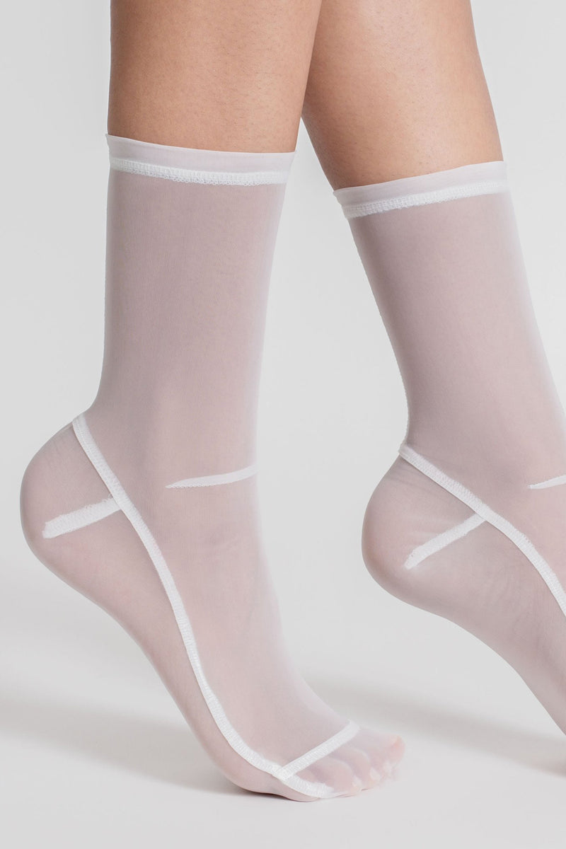 Darner Mesh Socks in White