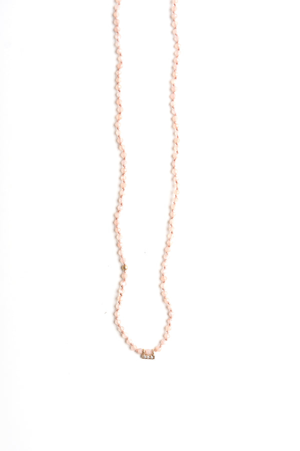 Drift Necklace in Peach Moonstone