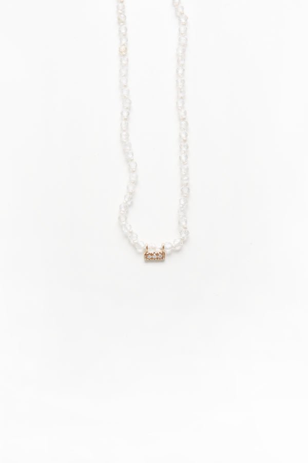 Drift Necklace in White Topaz