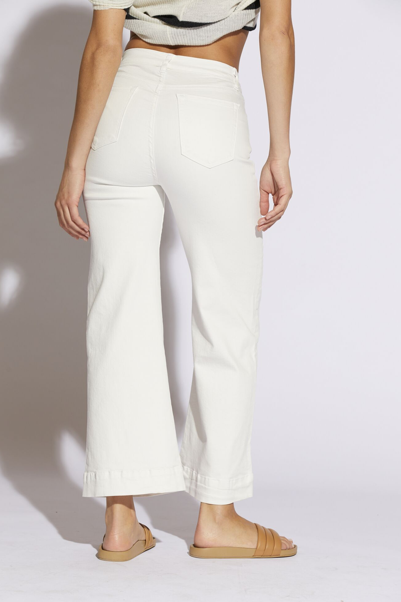 Katia Wide Leg Pant in Soft White