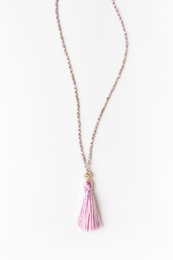 Iwona Ludyga Plene Lune Tassel Necklace in Light Pink