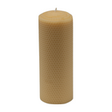 20cm Tall Large Hand rolled 100% Pure Australian Beeswax Pillar Candle