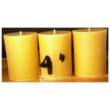 Beeswax Pillar Candle  - Hand poured, Australian made Poured Candles - Suz E Bee Candles