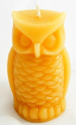 Owl - Hand poured, Pure Australian Beeswax Candle Poured Candles - Suz E Bee Candles