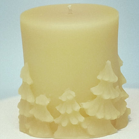 Christmas Tree Pillar Candle