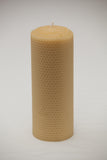 20cm Tall Hand Rolled Pillar - Large Rolled Candles - Suz E Bee Candles