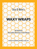 Beeswax food wraps handmade Suz E Bee Candles eco food wrap