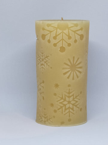 Snowflake Beeswax Candle