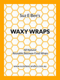 Waxy Wraps Starter Pack - Three sizes Beeswax Wraps Waxy Wraps - Suz E Bee Candles