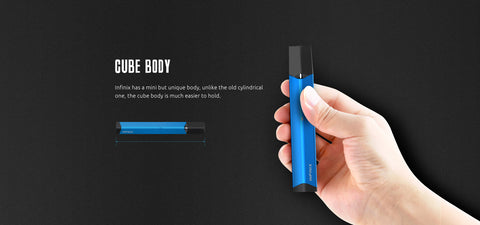 infinix vape size in hand