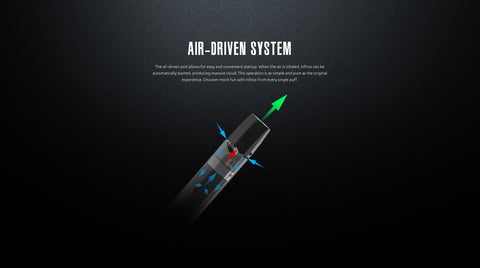 infinix vape air-driven system