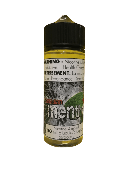 CANADIAN MENTHOL MINT VAPE JUICE FLAVOUR CRAFTERS INC. 120mL 0mg