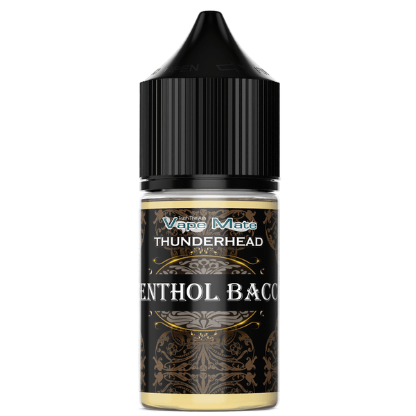 THUNDERHEAD - MENTHOL BACCO (50/50) CO-PACKED VAPEMATE - THUNDERHEAD 30mL 0mg