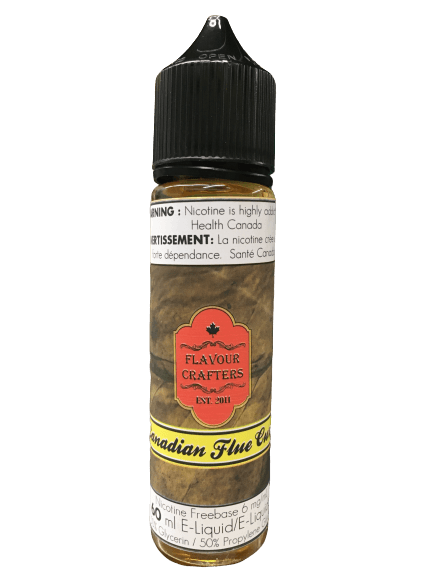 60mL Canadian Flue Cured TOBACCO VAPE JUICE FLAVOUR CRAFTERS INC.