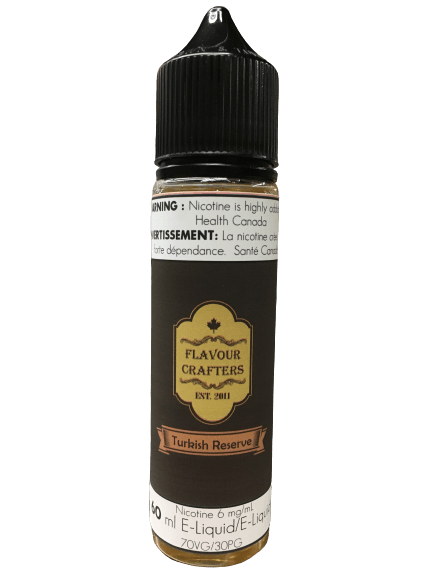 Turkish Reserve TOBACCO VAPE JUICE Flavour Crafters Inc.