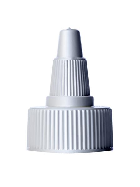 White twist-open dispensing cap CAP/TIP Containers & Packaging