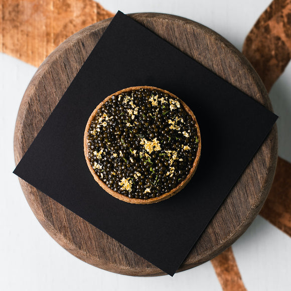 Caviar and Uni Tart