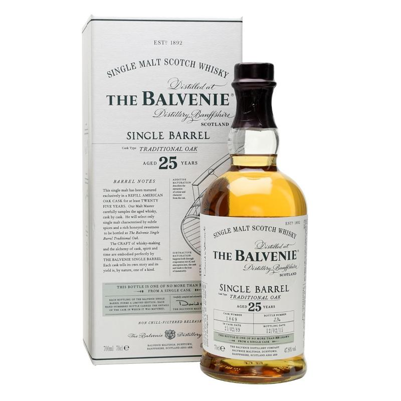 Balvenie 25 Year Old Traditional Oak Speyside - Single Malt Scotch Whisky