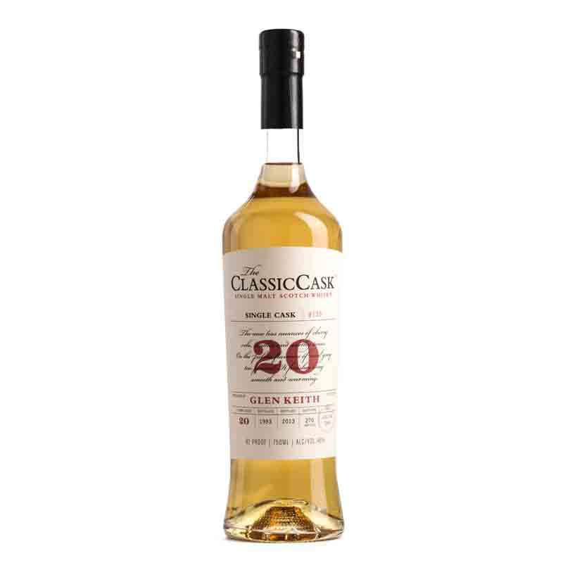 The ClassicCask Glen Keith 20 Year Old - Single Malt Whisky