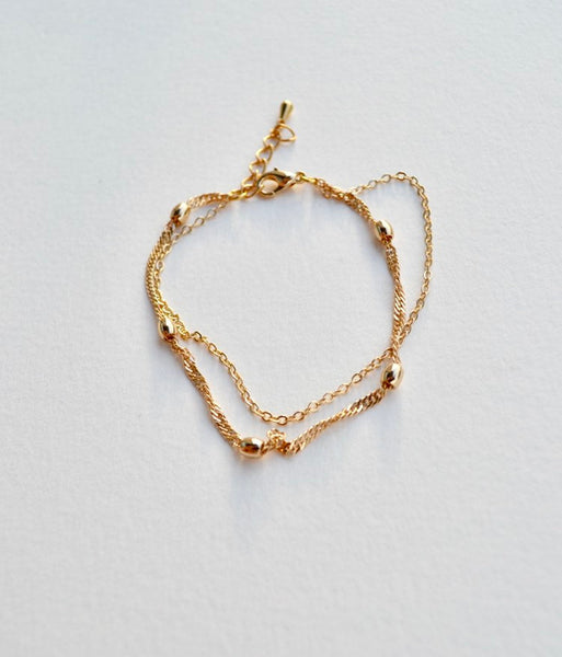 Brooklyn - minimalist gold chain bracelet, wedding, gift