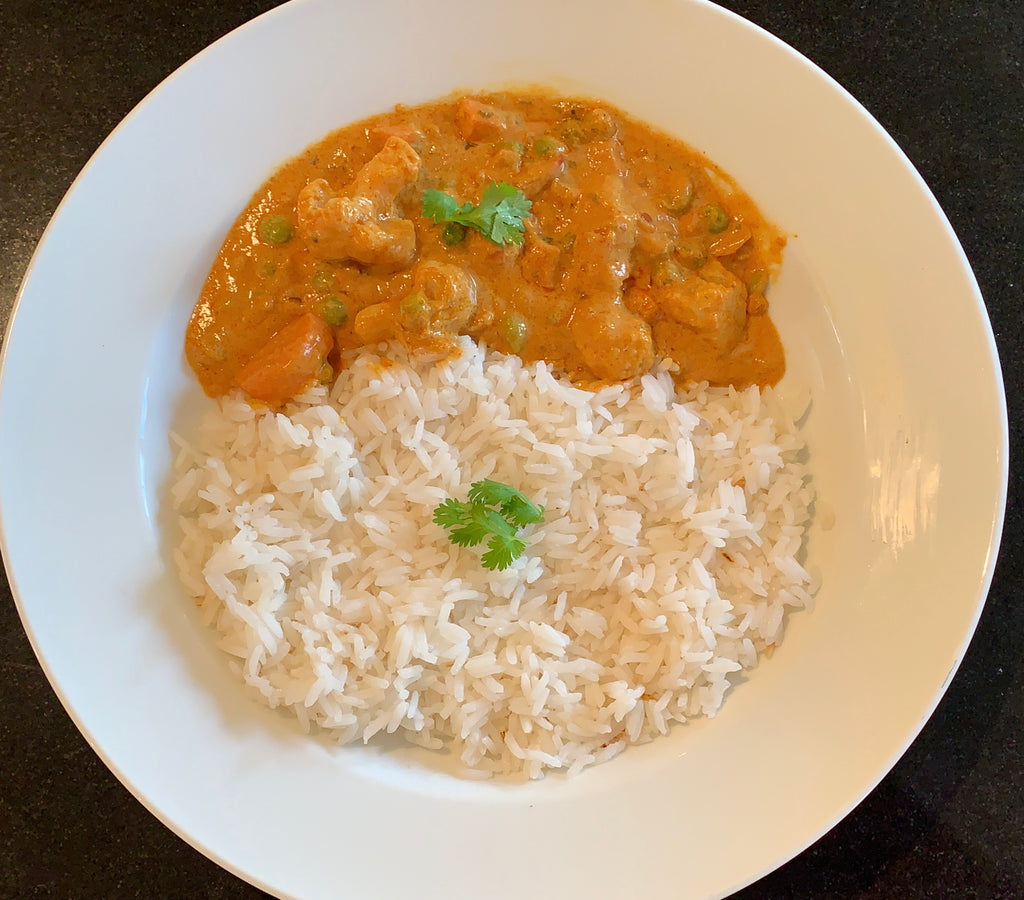 (GO VEGAN GO)  Vegetable Korma with Rice