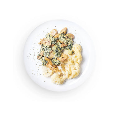 Keto Asiago Spinach