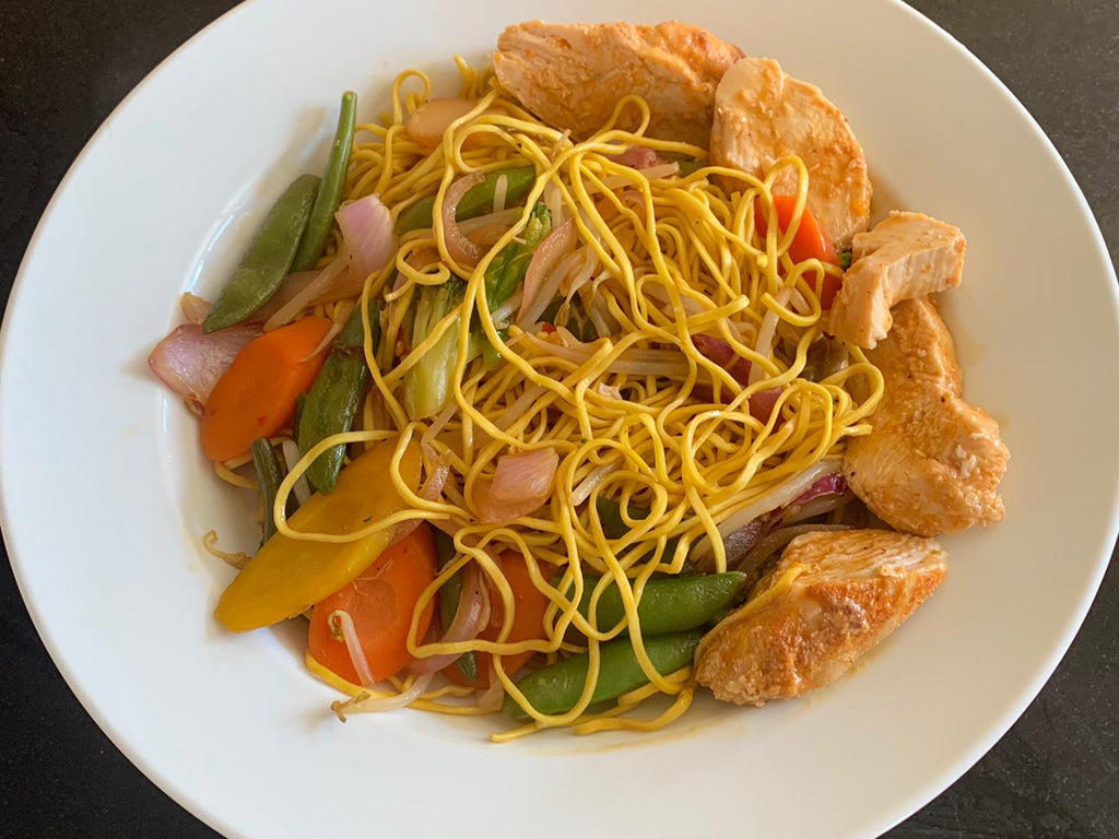 Chicken Sweet Chilli Stirfry Noodles