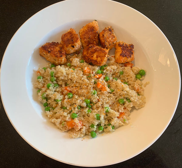Baked cajun chicken Breast with quinoa