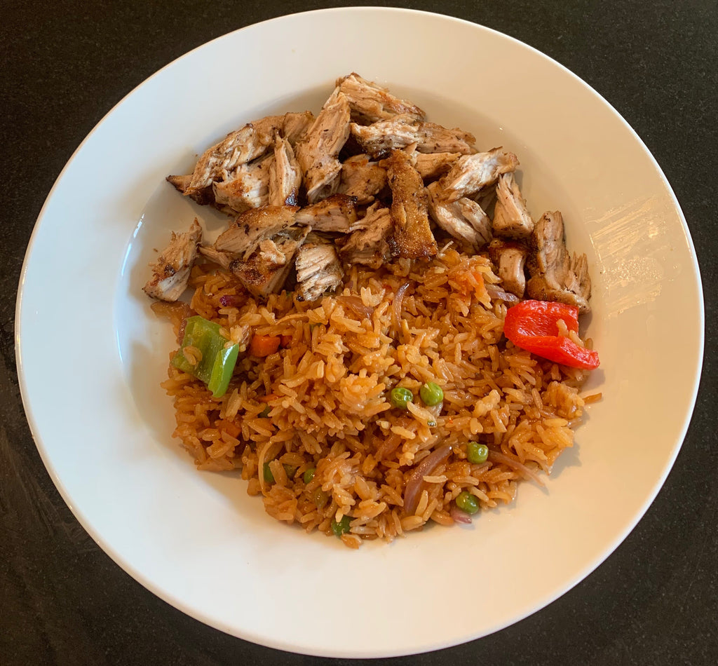 Pulled pork with vegetable fried rice