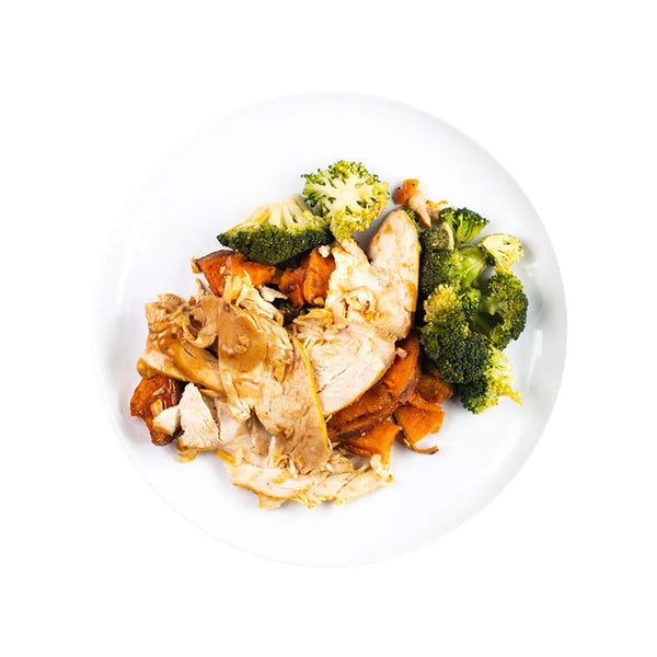 Roasted chicken with Broccoli, Potatoes