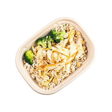 Spice-rubbed Chicken with Rice and Broccoli