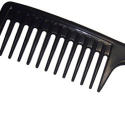 Comb hair extensions with a wide tooth comb or fingers