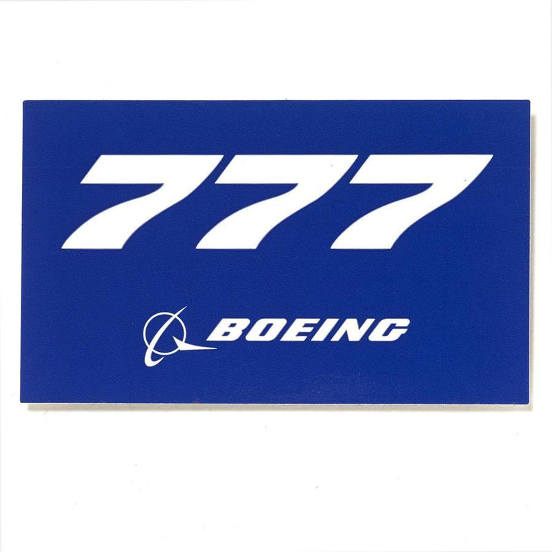 777 Sticker Blue