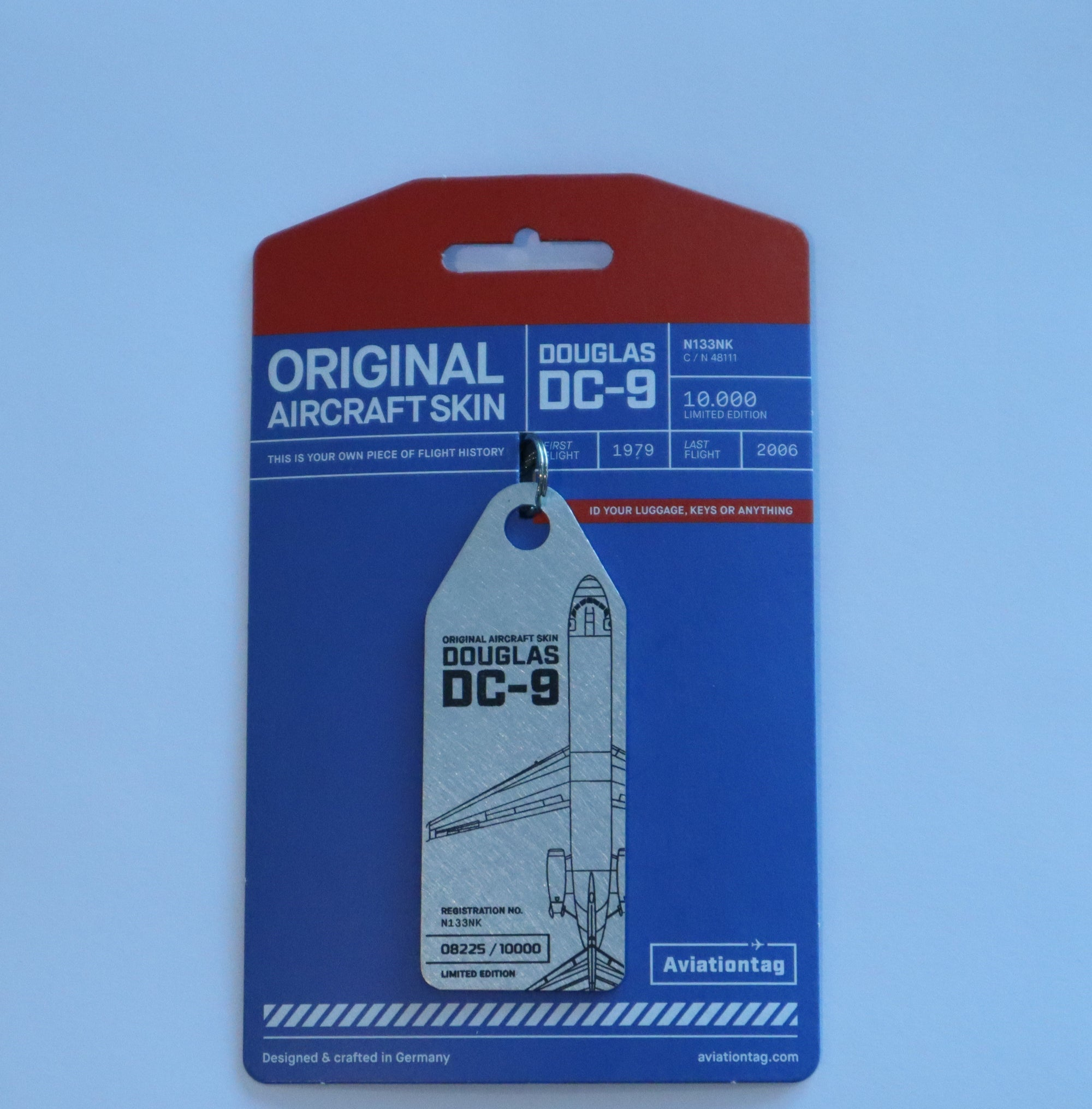 Orginal Aircraft Skin - Douglas DC-9 - Key Tag